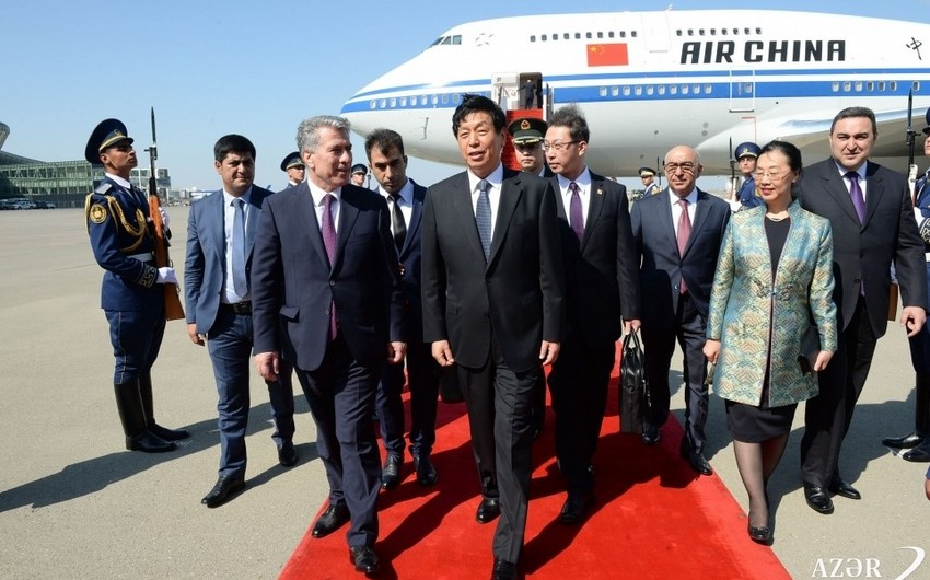 Chairman of Chinese Parliament arrives in Azerbaijan