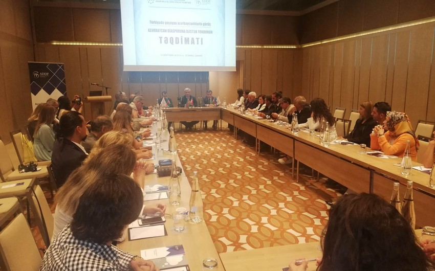 Türkiyədə Azərbaycan Diasporuna Dəstək Fondunun təqdimatı keçirilib