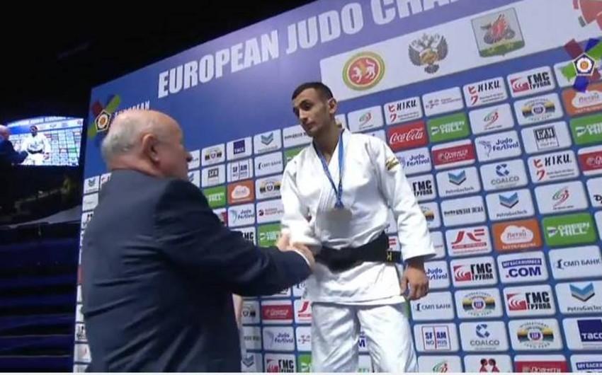 Azərbaycan cüdoçusu Avropa çempionatında gümüş medal qazanıb