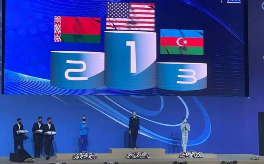 Gimnastlarımız İsraildə növbəti medallarını qazanıb