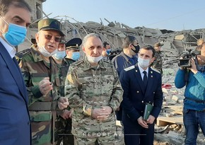 Prosecutor-General and Kamaladdin Heydarov arrive at scene in Ganja