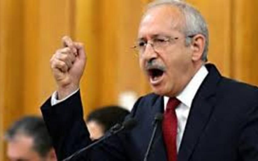Kılıçdaroğlu: Türkiyədə yas elan edilməlidir