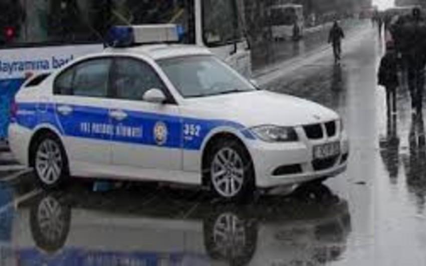 Bakı Yol Polisi yağmurlu hava şəraiti ilə əlaqədar gücləndirilmiş iş rejimində çalışır