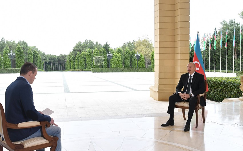 Интервью президента Ильхама Алиева российскому Первому каналу