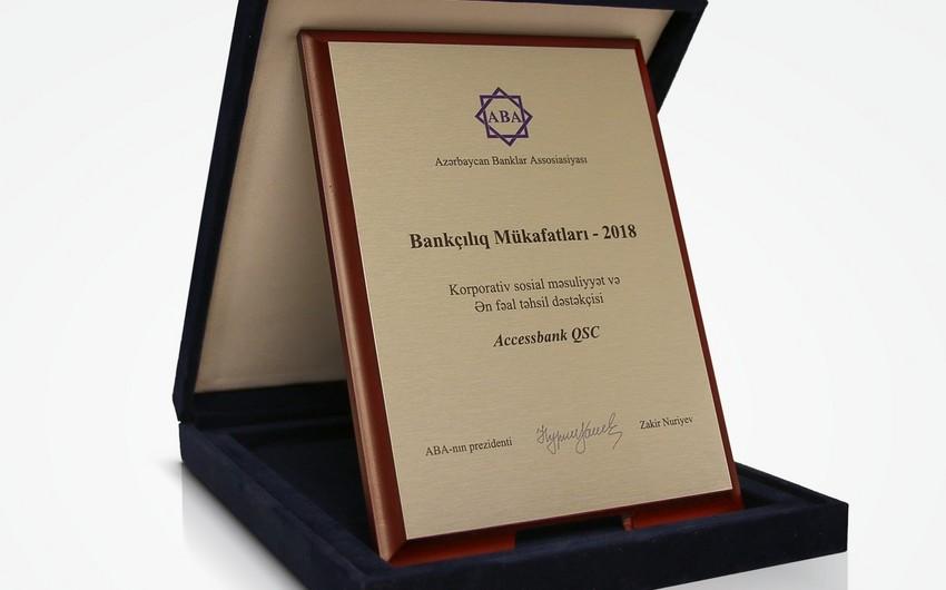 AccessBank iki nominasiya üzrə mükafata layiq görülüb