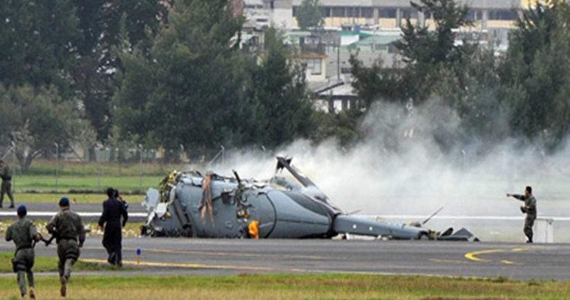 Hindistanda hərbi helikopter qəzaya uğrayıb