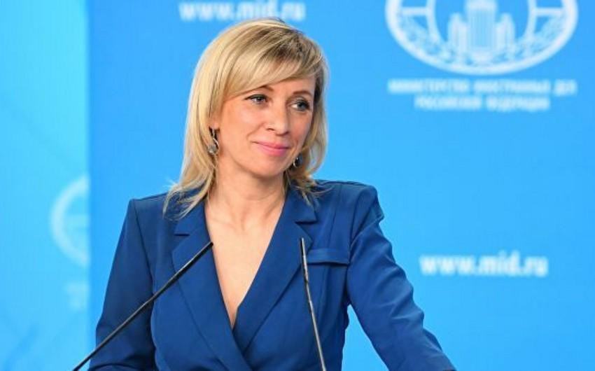 Zaxarova: Rusiya ilə Azərbaycan arasında strateji tərəfdaşlıq əlaqələri var