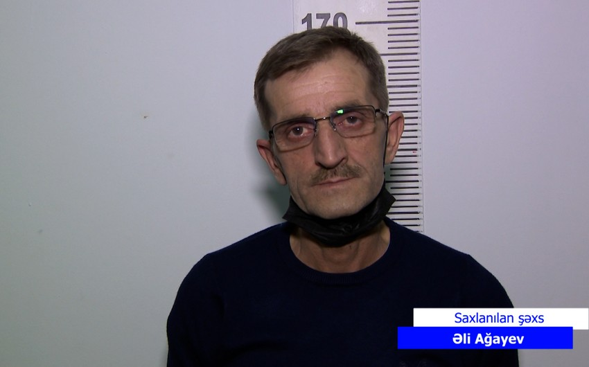 Bakıda silahla gəzən keçmiş məhkum saxlanılıb