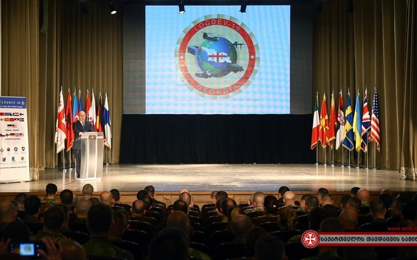 Azerbaijani servicemen participate in international logistics training in Georgia