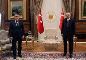 Türkiyə prezidenti Ceyhun Bayramovu qəbul edib