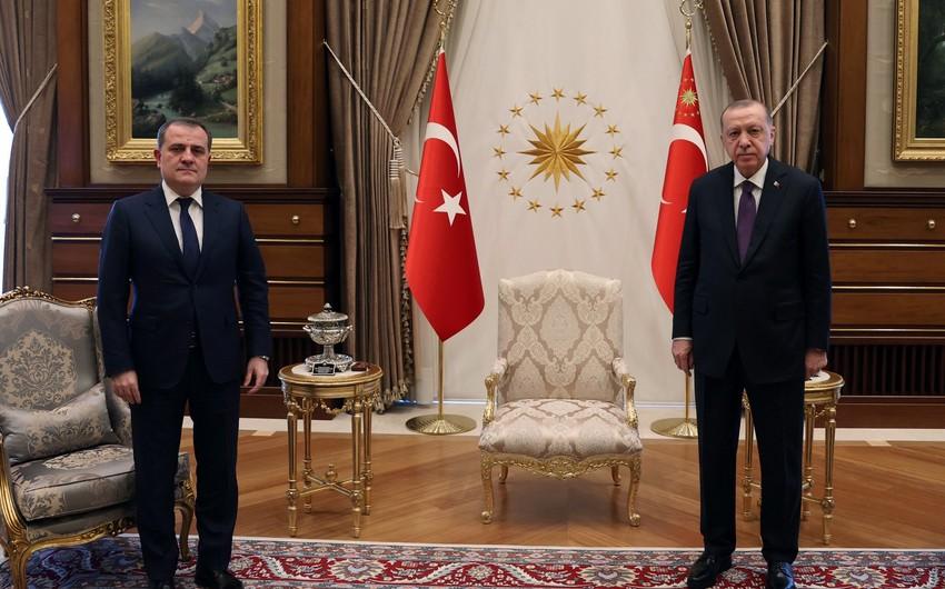 Эрдоган принял главу МИД Азербайджана