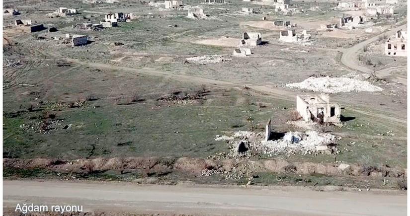 Видеокадры из села Этйемезли Агдамского района
