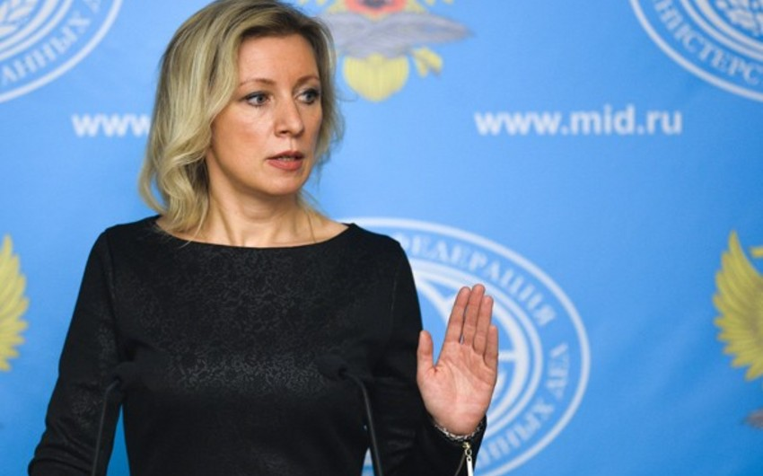 Zakharova: Russia will contribute to continuation of dialogue on resolving Karabakh conflict