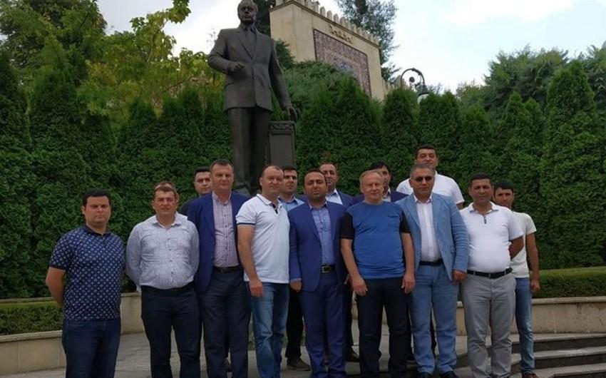 Azərbaycanın Ukraynadakı səfirliyində Bakıdan gedən bir qrup idman jurnalisti ilə görüş keçirilib