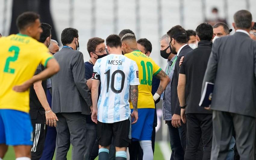 FIFA Braziliya - Argentina matçı ilə bağlı açıqlama yayıb