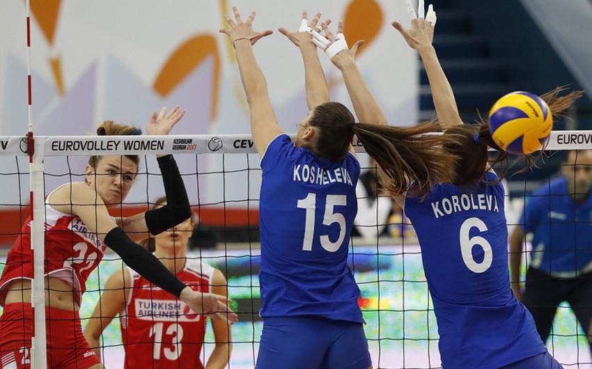 Voleybol üzrə Avropa çempionatında son yarımfinalçı müəyyənləşib