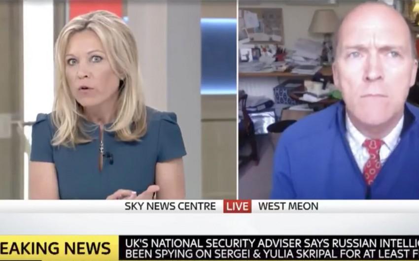 Sky News Suriyadakı kimyəvi hücumun mənasız olduğunu deyən ekspertlə canlı yayımı kəsib - VİDEO