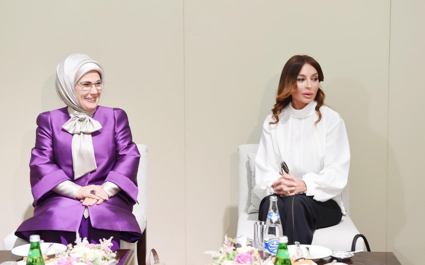 Şuşada Azərbaycan və Türkiyənin birinci xanımlarının görüşü olub