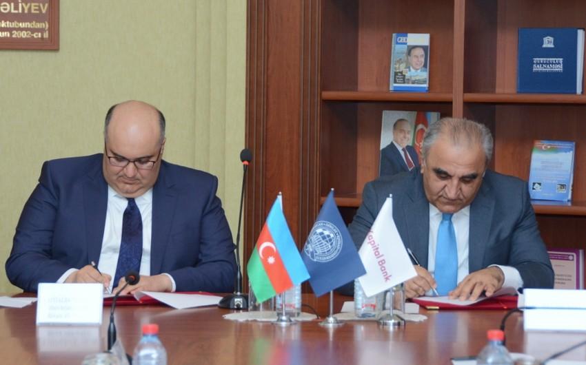 Kapital Bank və Dövlət İqtisad Universiteti arasında əməkdaşlıq memorandumu imzalanıb