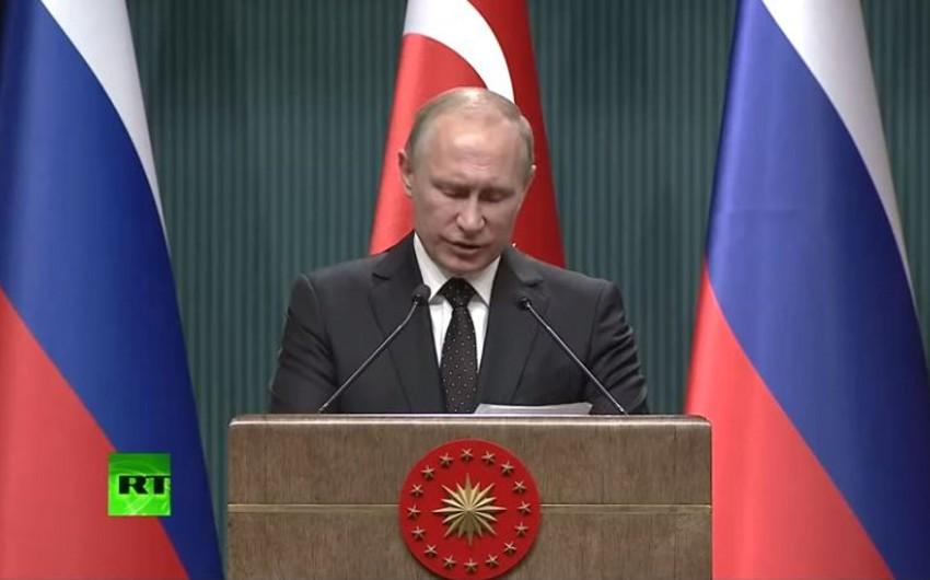 Putin: Suriyada terrorçuların aktivləşmə cəhdi effektli müqavimətlə qarşılanacaq