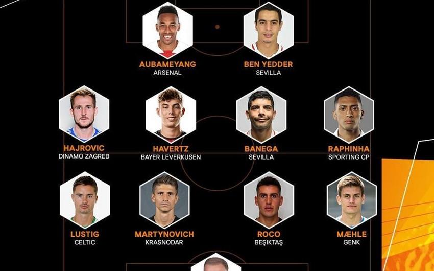 Qarabağa qol vuran futbolçu Avropa Liqasının rəmzi komandasına daxil edilib