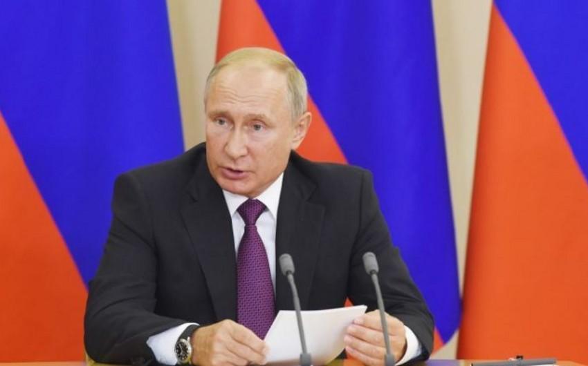 Putin: Bugünkü danışıqlar bütün Rusiya-Azərbaycan əlaqələri kompleksinin gələcək inkişafına əlavə təkan verəcək
