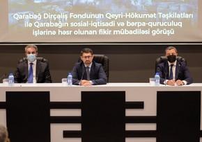 Qarabağ Dirçəliş Fondunun sədri QHT nümayəndələri ilə görüşüb