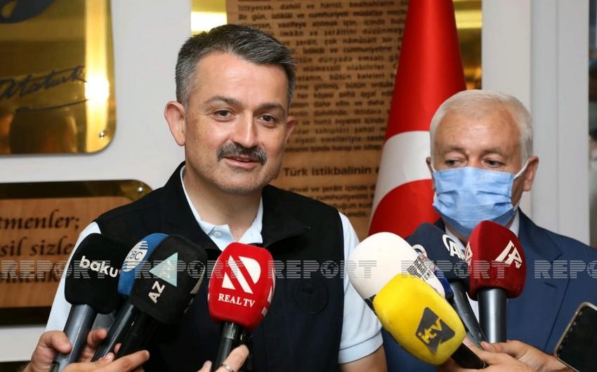 Пакдемирли: Увидел самоотверженность азербайджанских пожарных в их глазах