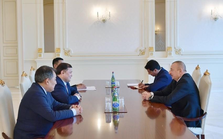 Президент Ильхам Алиев принял председателя парламента Кыргызстана - ОБНОВЛЕНО
