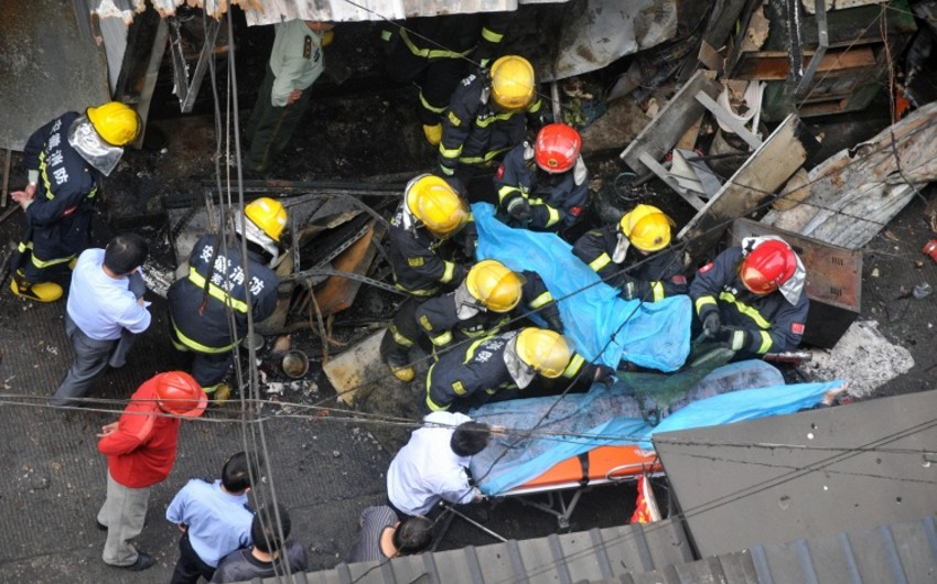 Çində kimyəvi zavodda baş verən partlayış nəticəsində təxminən 10 nəfər itkin düşüb