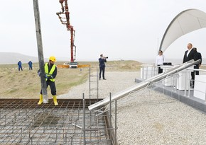 President Ilham Aliyev and First Lady Mehriban Aliyeva attend groundbreaking ceremony for Mud Volcanoes Tourism Complex