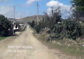 İşğaldan azad olunan Talış kəndinin videogörüntüsü yayılıb