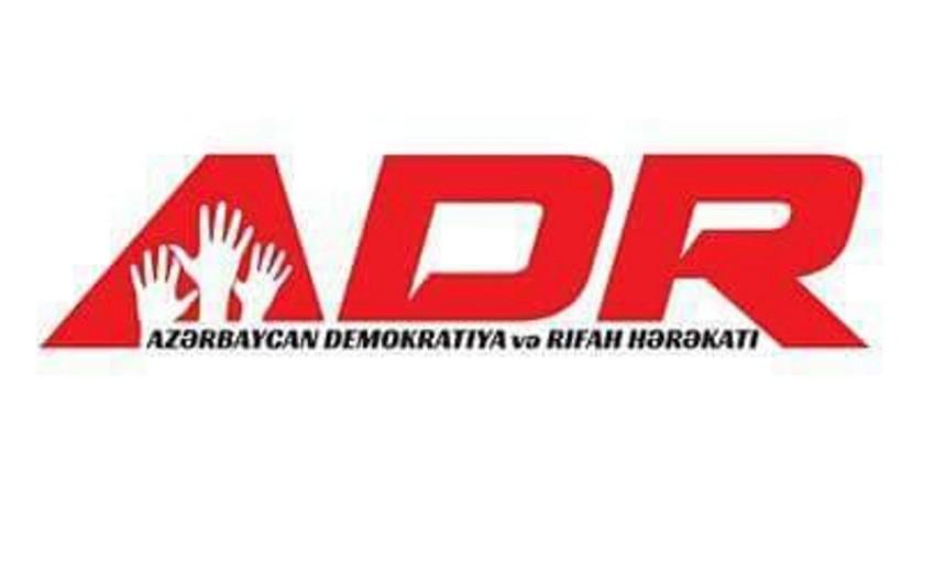 Azərbaycan Demokratiya və Rifah Hərəkatında yeni təyinatlar olub
