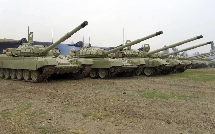 Azərbaycan Ordusunun təlimlərinə hansı tanklar cəlb olunub?