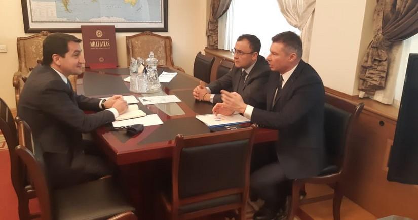 Hikmat Hajiyev meets with Deputy FM of Ukraine
