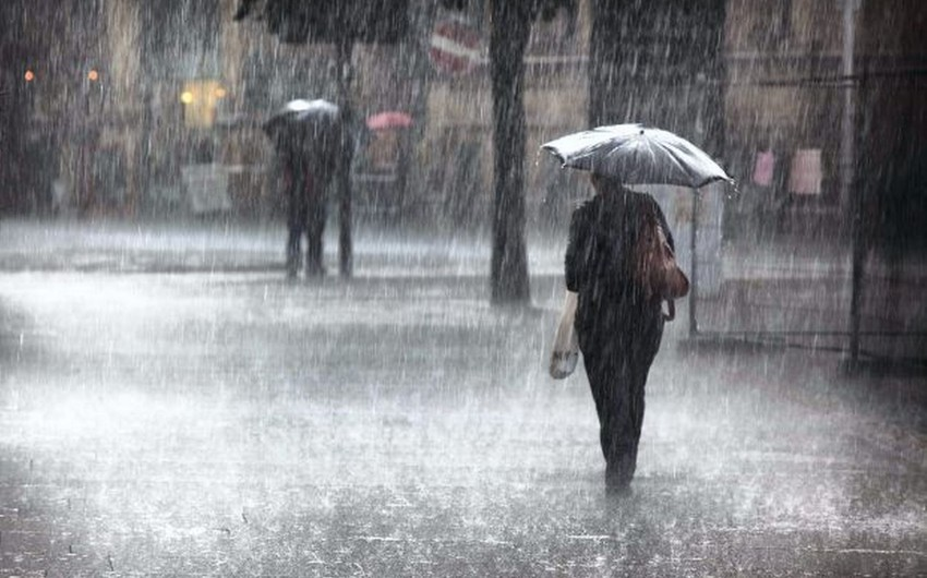 Завтра в районах Азербайджана ожидаются грозы и дожди