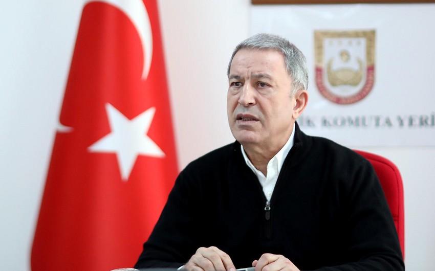 Türkiyənin milli müdafiə naziri Azərbaycana təşəkkür edib