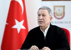 Hulusi Akar: 35 zabitdən ibarət heyət Azərbaycana gedib