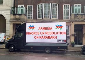 В Лондоне прошла креативная акция в поддержку азербайджанской армии