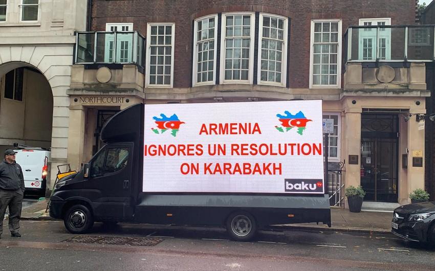 Londonda Azərbaycan Ordusuna dəstək məqsədilə kreativ aksiya keçirilib