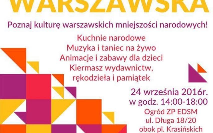 """Azərbaycan """"Varşava mozaikası"""" Mədəniyyət Günündə təmsil olunacaq"""