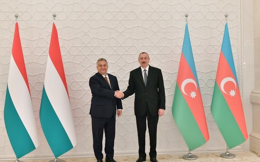 Президент Азербайджана встретился с премьер-министром Венгрии
