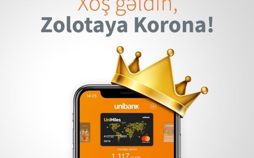 """Unibank Mobile istifadəçiləri Zolotaya Korona"""" pulköçürmə sistemindən istifadə edə biləcəklər"""
