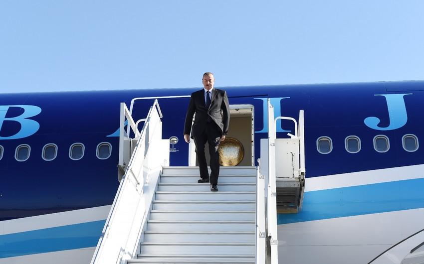 President Ilham Aliyev arrives in Sochi for visit