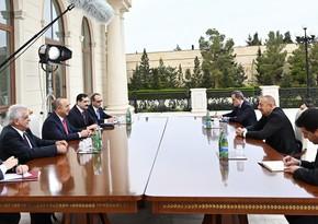 Prezident İlham Əliyev Mövlud Çavuşoğlunu qəbul edib