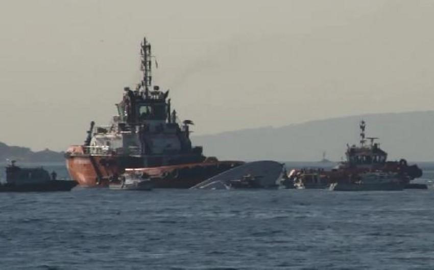 Bosfor boğazında yük gəmisi ilə kater toqquşub, 3 nəfər ölüb, 4 nəfər yaralanıb - VİDEO