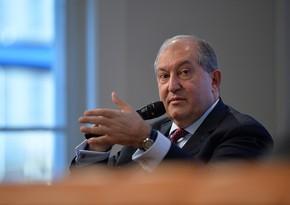 Ermənistanın Prezident Aparatı: Armen Sarkisyana təzyiqlər olunur