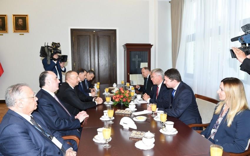 Prezident İlham Əliyev Polşa Senatının marşalı ilə görüşüb