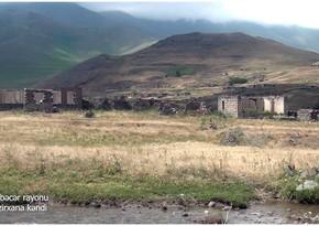 Footage from Bezirkhana village of Kalbajar