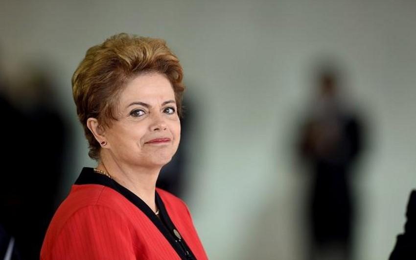 Braziliya Senatının xüsusi komissiyası prezident Dilma Rousseffin istefasına səs verib